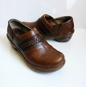 Ariat Brown Leather Clogs Size 8B